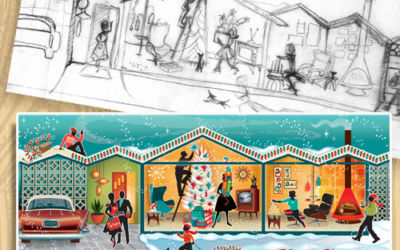 The Creative Process of Retro Christmas Cards, How It's Done