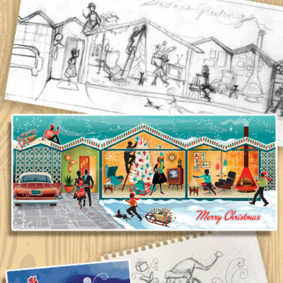 The Creative Process at Retro Christmas Card Company