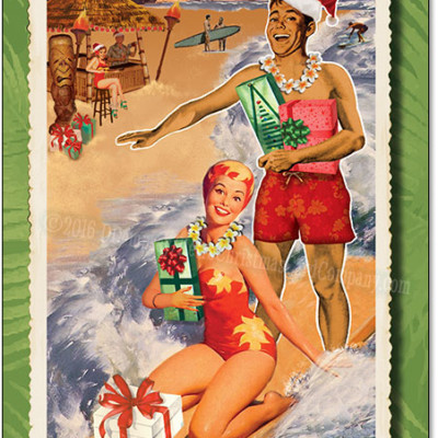 Surfer Christmas Cards