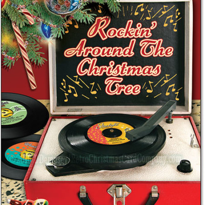 Record Player Christmas Cards