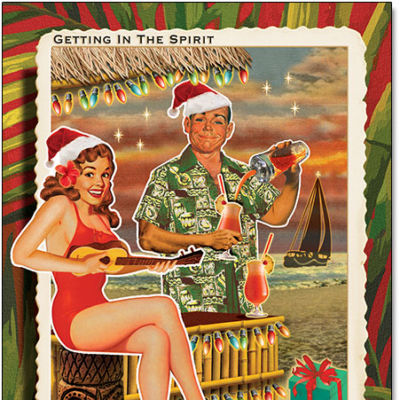 Tiki Christmas Cards