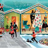 mid century Modern Christmas Cards
