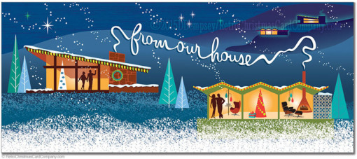Modern Houses Christmas Cards