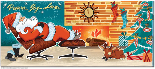 Sleeping Santa Christmas Cards