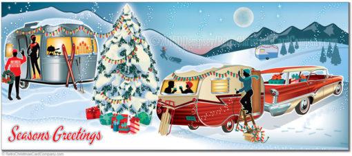 Travel Trailer Christmas Cards