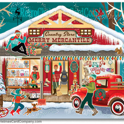 Country Store Christmas Cards