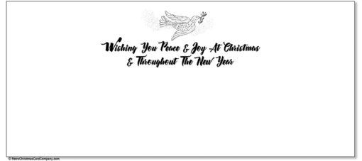peace dove christmas cards inside