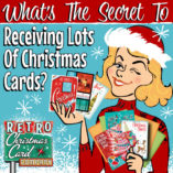 retro gal lots of cards