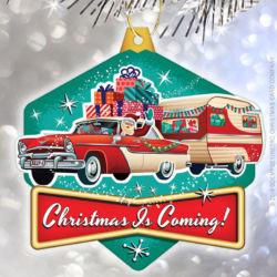 santas vintage camper christmas ornament - Vintage Christmas Ornaments