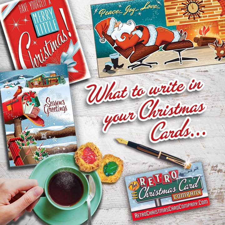 What To Write Inside Your Christmas Cards Retro Christmas Cards